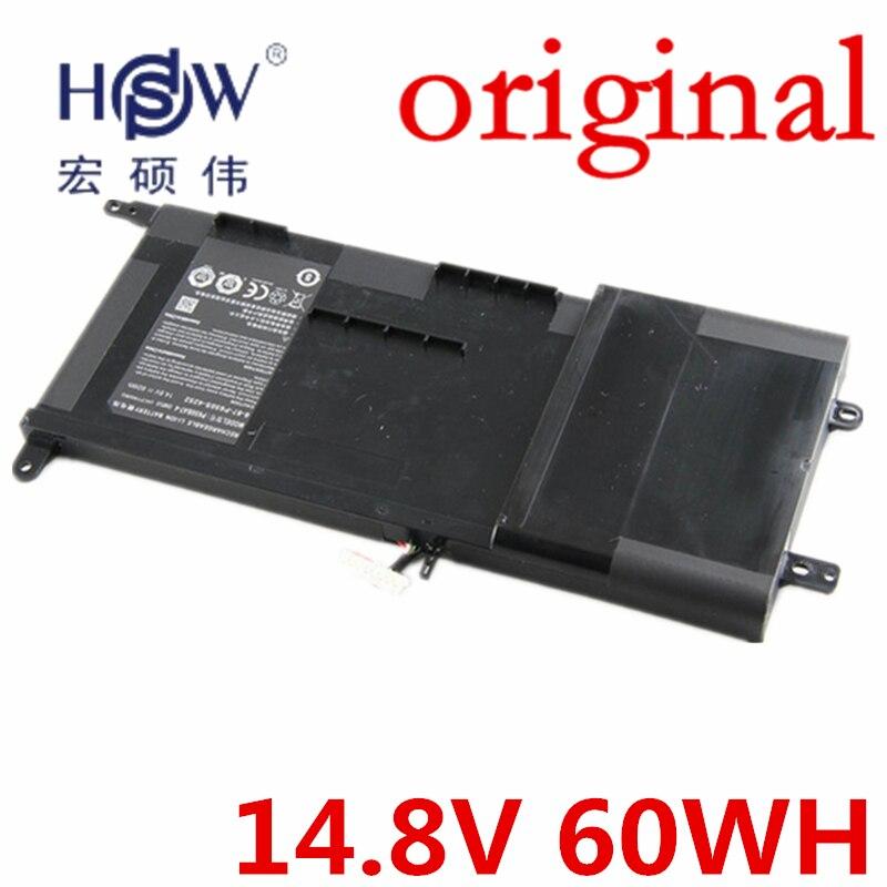 HSW Genuine original 14.8V 60Wh Battery for Clevo P650SA P650SE P650SG for Sager NP8650 NP8651 NP8652 P650BAT-4 bateria akku
