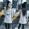 New Girls T Shirt Outwear Winter Thicken Fleece Sweatshirt For Girls 8 10 12 Years Teenage Girls Clothes Kids Children Tops
