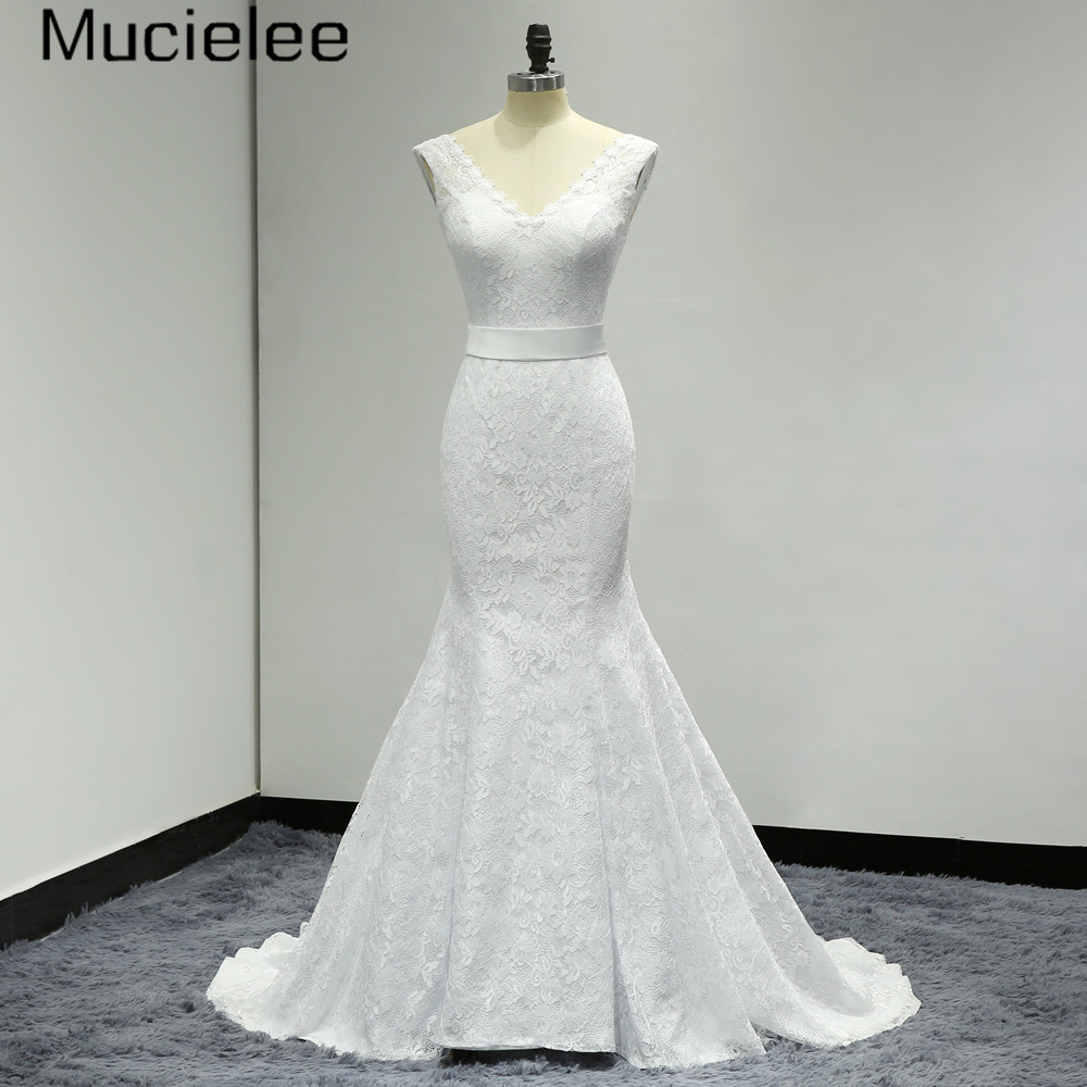 Vestidos de novia 2017 vintage simple lace wedding dresses for Cheap vintage style wedding dresses