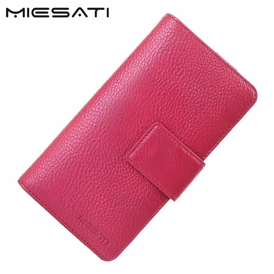 MIESATI Women Wallets Brand Design Genuine Leather Wallet Female Hasp Fashion Dollar Price Long Women Wallets High Quality makorster women wallets brand design high quality hasp leather wallet female fashion dollar price long wallets for women yy155
