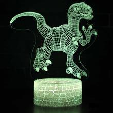 купить Dinosaur Kids Toys Glow in the Dark Fluorescent Birthday Gifts Children Luminous Night Light дешево