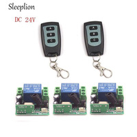 Sleeplion DC 24V 1CH Channel Wireless RF Remote 2 3 key Switch Transmitter+3 Receiver On/Off
