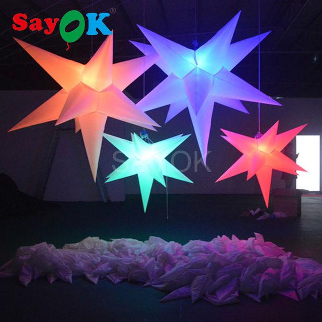 Groothandel event party decoratie led verlichting opblaasbare ster ...