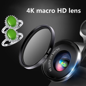 Image 5 - Mini 4K HD Super 20X Micro Phone Lens Wide Angle for Smartphone Camera 2019 New