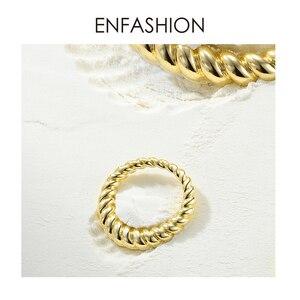 Image 3 - Enfashion PureแบบTwistแหวนของขวัญGold Color Waveแหวนแฟชั่นเครื่องประดับBague Anilloเครื่องประดับRF184005