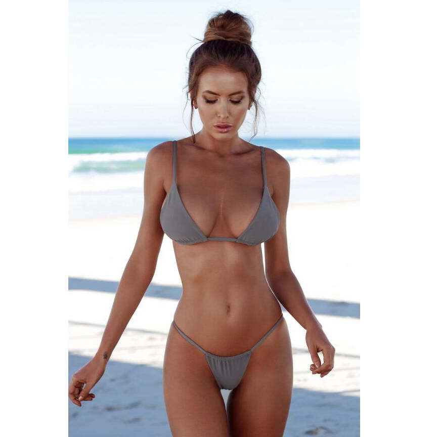 3667d02e789d3 Dropwow MASCUBE 2018 New Summer Women Solid Bikini Set Push-up ...