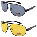 S3840 Mix(1 of each color) 2 pack Polarized Sunglasses Night Vision Driving Glasses Include Case