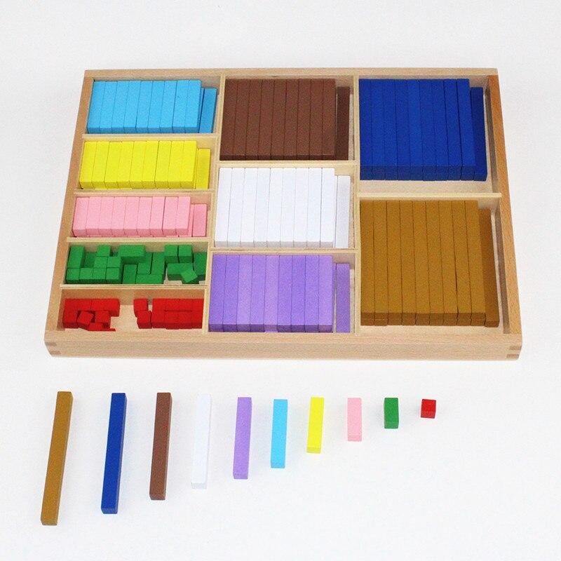 20 sortes 1-10 cm blocs bâton numérique en bois jouets enfant jouets éducatifs enseignement Montessori jouet de mathématiques - 3