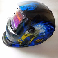 PP Material Solar Powered Welding Mask Helmet Custom Auto Darkening KM1600 Welding Helmet
