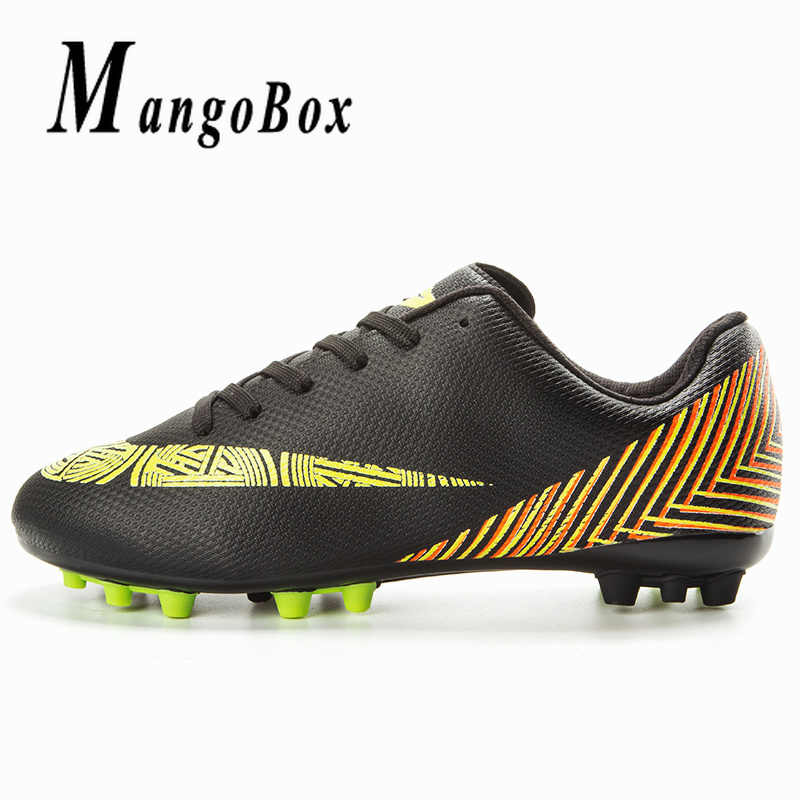 108e4dc9e45d Cool Outdoor Football Shoes For Children Gold Blue Latest Soccer Cleats  Brand Women Soccer Sneakers Training