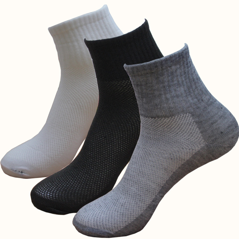 5Pair Summer Ankle   Socks   Mesh Breathable Short Low Cut   Socks   For Woman Female Men   Socks   Black/Grey/White Casual Calcetines Mujer