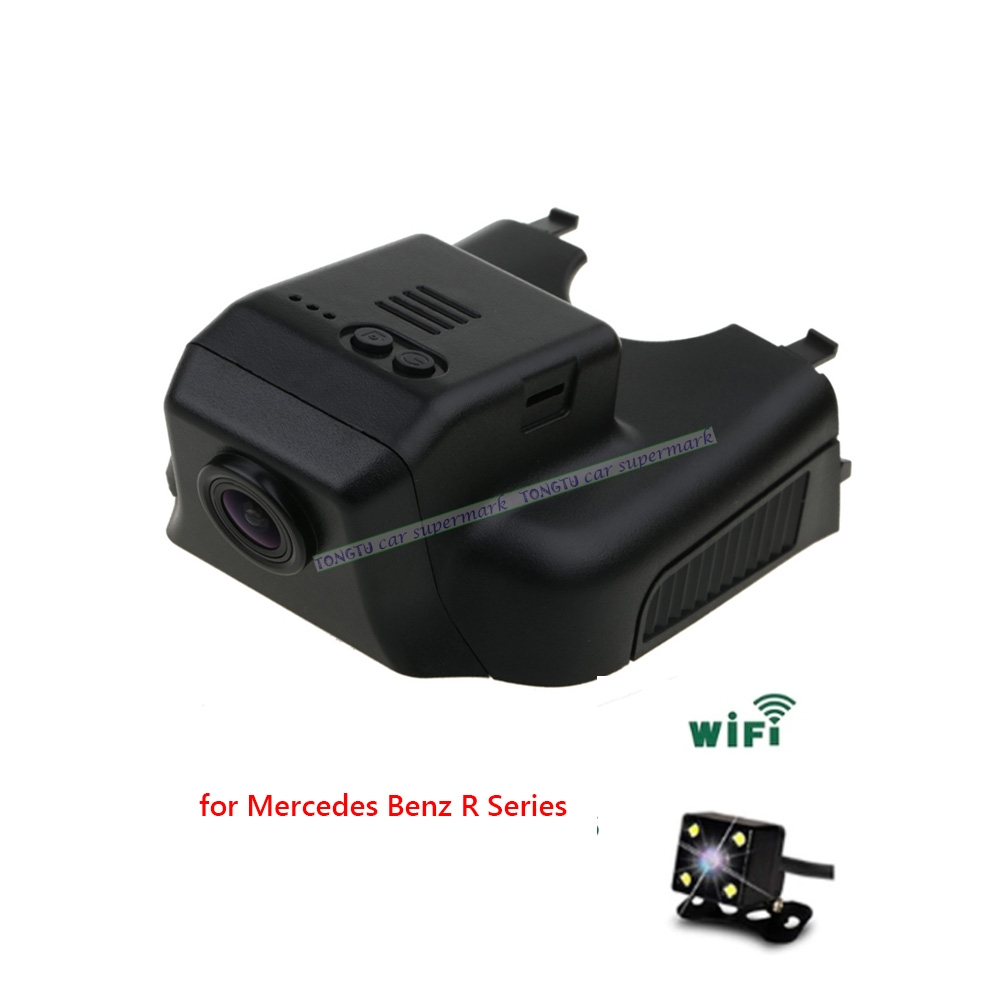 Dual Lens Novatek 96655 Sony IMX322 Car Wifi DVR for Mercedes Benz R 2015 ML GL w164 x164 2006-2012 Hidden Installation bigbigroad for nissan qashqai car wifi dvr driving video recorder novatek 96655 car black box g sensor dash cam night vision
