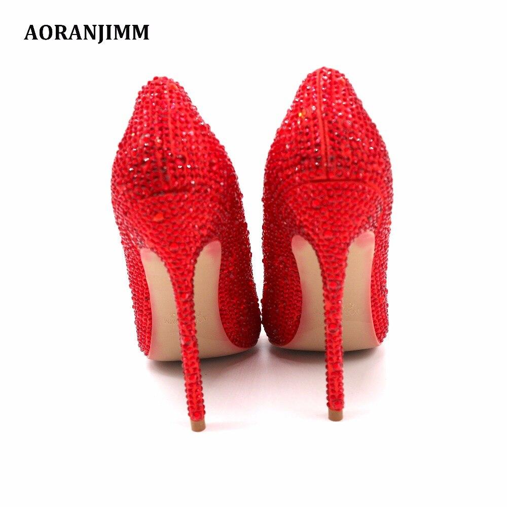 Chaussures Height À Femmes 12cm Cristal Talons Heel Strass Bout Mariage Livraison De Height Pompe Dame Réel Vente Aoranjimm Rouge Pointu Height Hauts 8cm 10cm Pic Chaude Gratuite x6CqOS