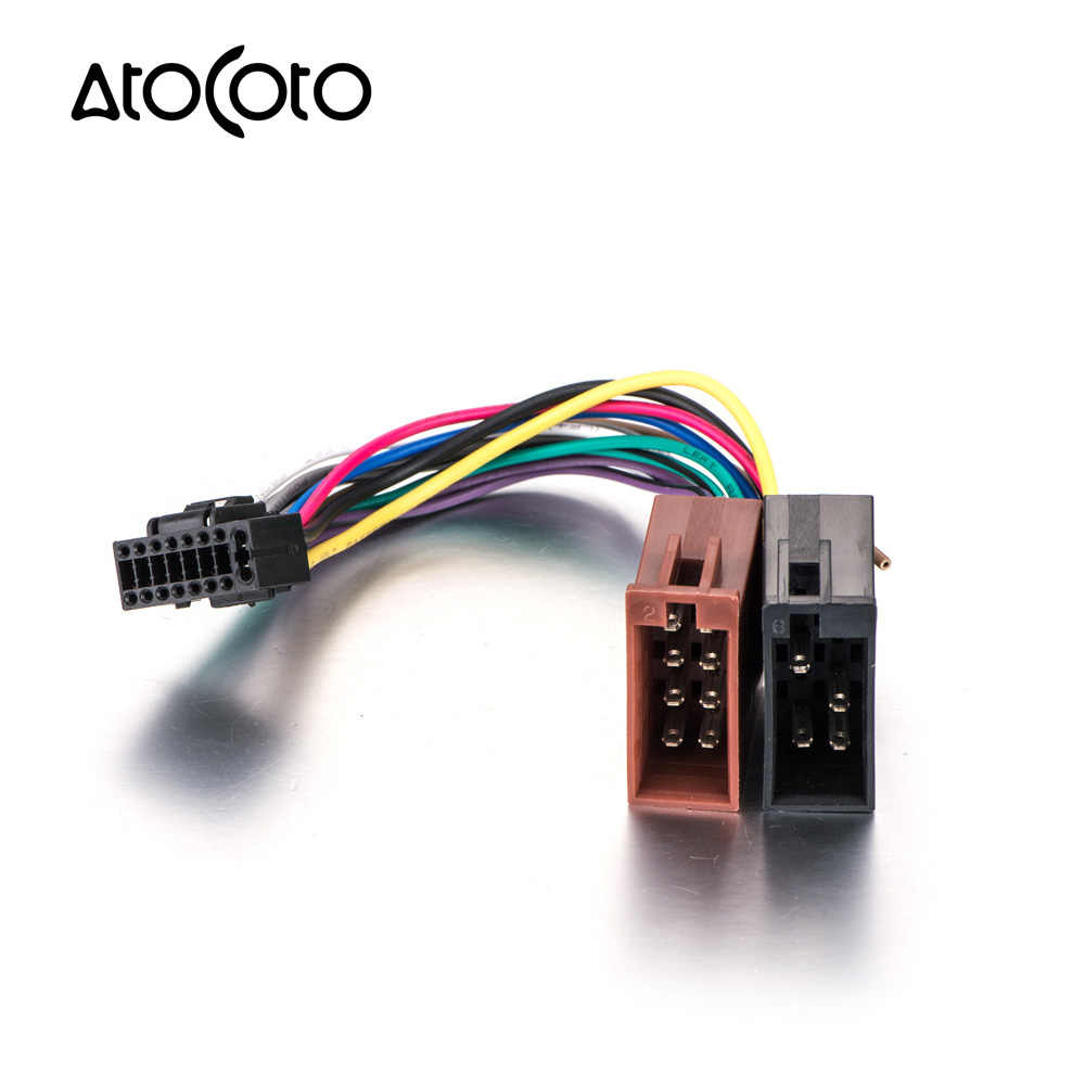 hight resolution of detail feedback questions about atocoto wire harness for kenwood car stereo radio iso standard connector adapter 16 pin plug cable on aliexpress com