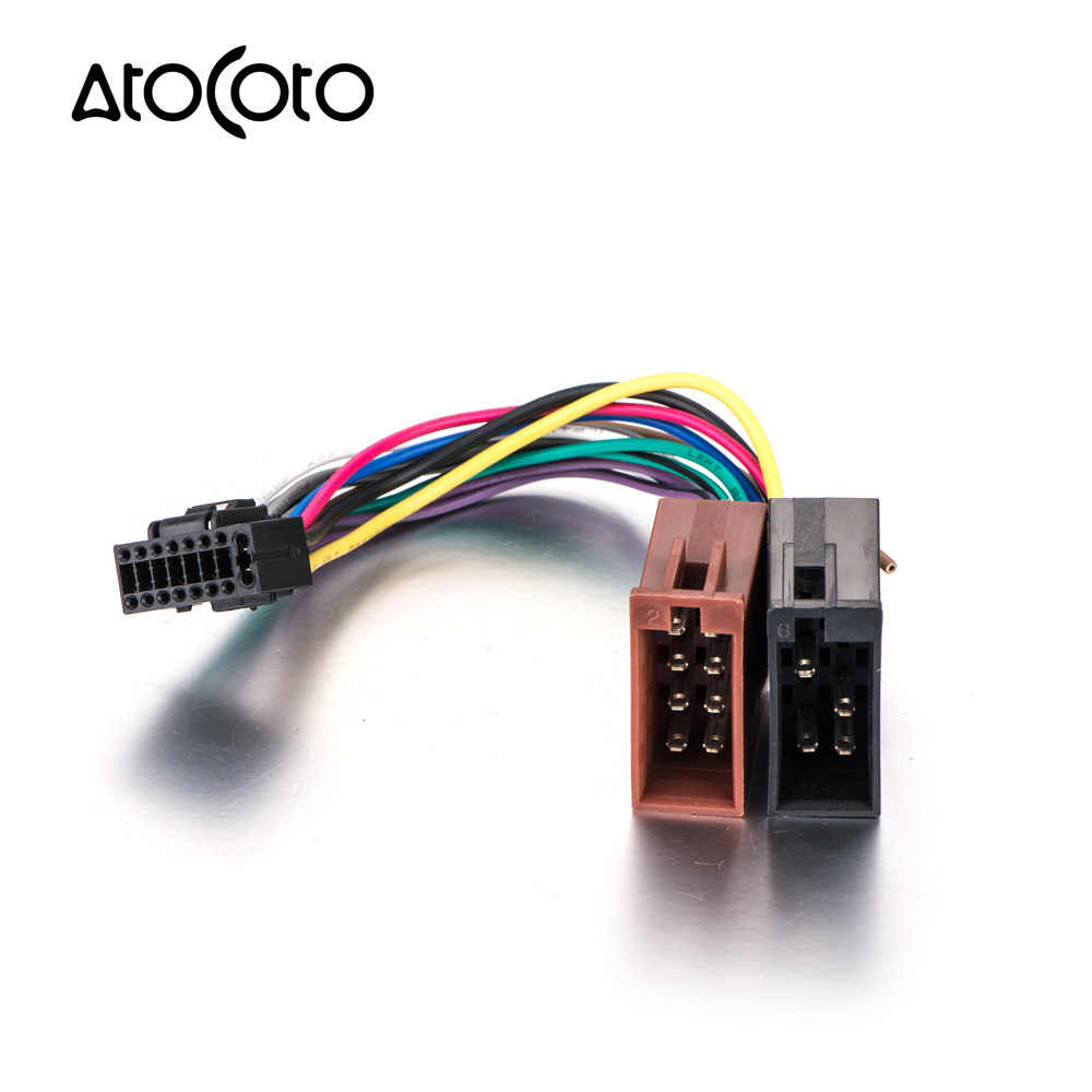detail feedback questions about atocoto wire harness for kenwood cardetail feedback questions about atocoto wire harness for kenwood car stereo radio iso standard connector adapter 16 pin plug cable on aliexpress com