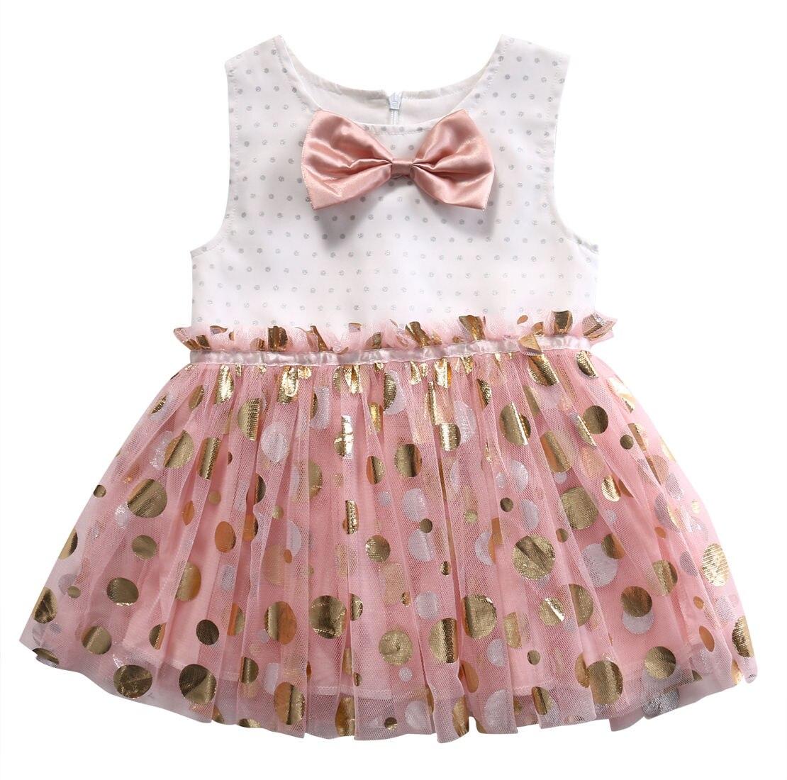 Baby girl pink sequin dress - Kids Girl Ball Gown Princess Pink Dress Toddler Bow Sequins Dress Summer China Mainland