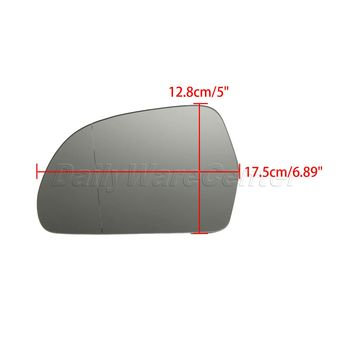 Electrical Plate Covers | 1Pair L+R Heated Door Wing Mirror Glass Car Rearview Side Mirrors For AUDI A3 A4 S4 A5 A6 S6 A8 Allroad Q3 SKODA OCTAVIA SUPERB