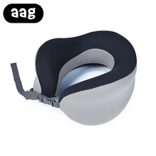 AAG Adjustable travel pillow Folding Neck Cushion Portable Comfortable home office nap Business Trip Outdoor neck Grey
