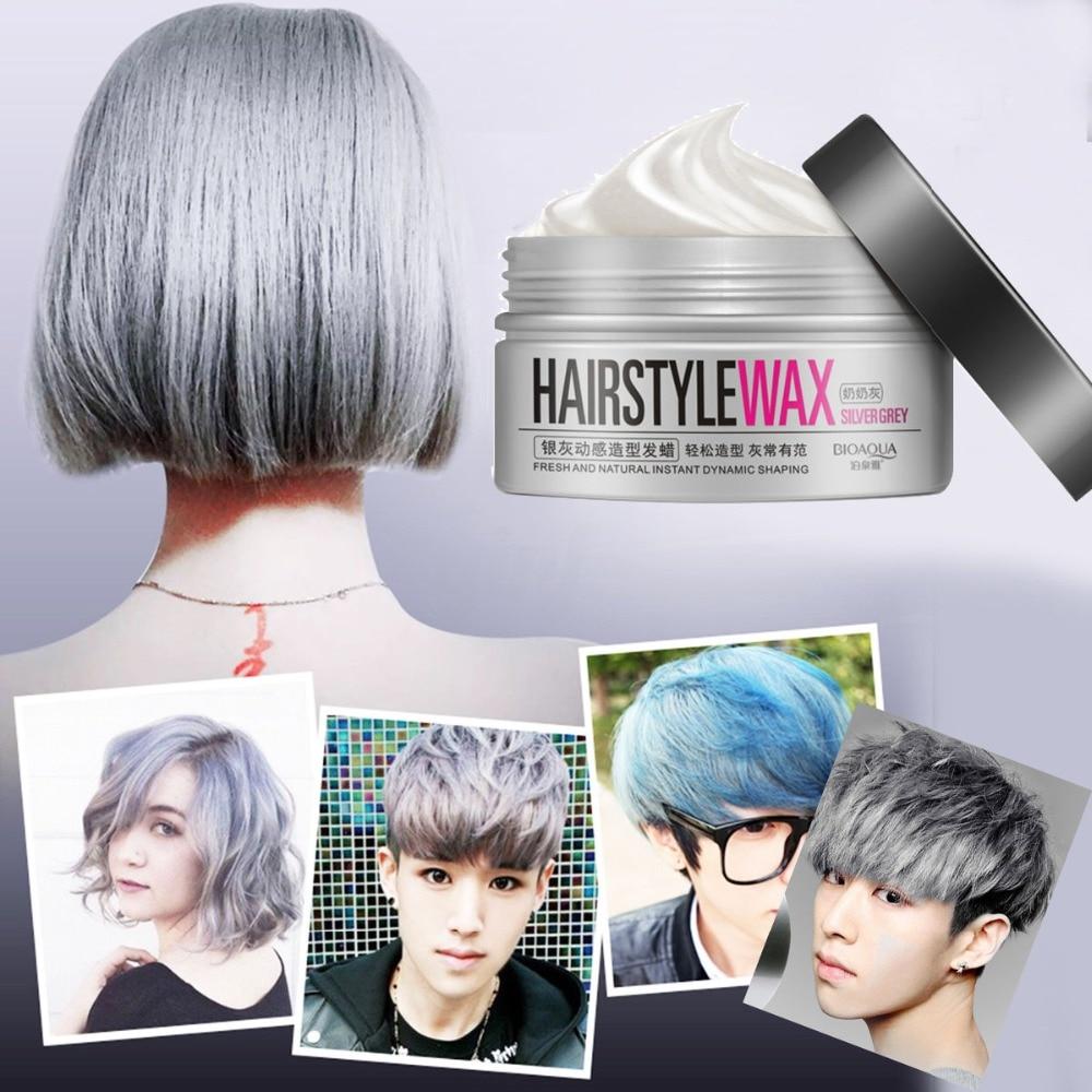 BIOAQUA new hair modelling product Super style Hair wax mud water gel slicked oil wax mud keep hair men women popular hot sell
