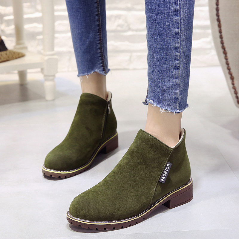 2018 new Boots Woman Shoes Winter Female Warm Fur Water-resistant Upper Fashion Non-slip Sole Free Shipping New Style Snow Boot (9)