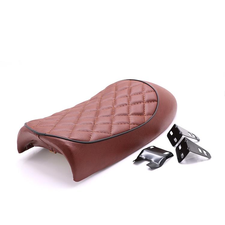 Brown Hump Saddle Cafe Racer Vintage Seat Cushion For Honda CBR CL Suzuki GN Yamaha XT125 RD250 Kawasaki KZ200A 650B W650 запчасти для мотоциклов honda cl400 cb400ss w400 w650 800 page 2