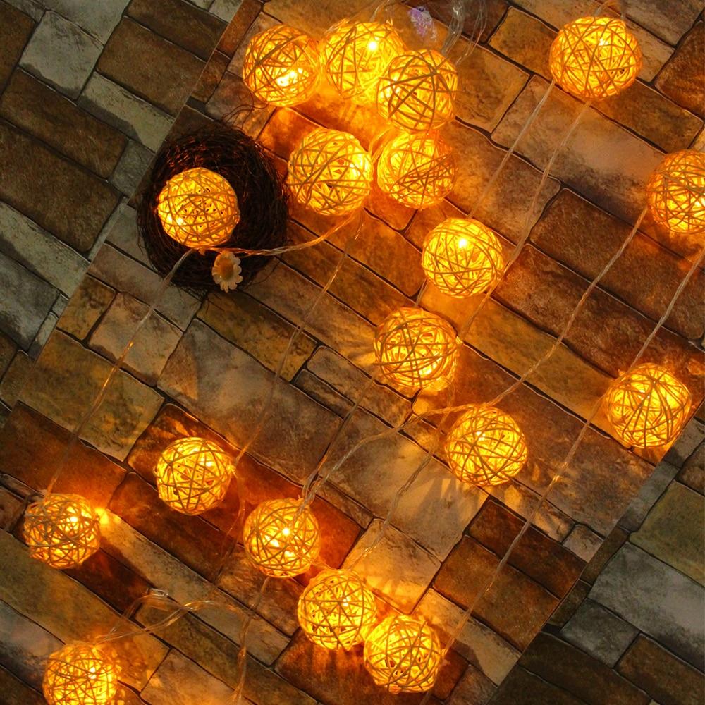 Christmas Tree Indoor Lights: 5M 20leds Ball String Light LED 6cm Christmas Tree Lights