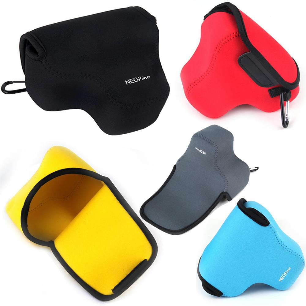 Neoprene <font><b>Camera</b></font> Case Bag for <font><b>Sony</b></font> Alpha a6500 ILCE-<font><b>6500</b></font> with 16-70mm Lens for Canon PowerShot SX540 SX530 SX520 SX50 SX40 SX30 image
