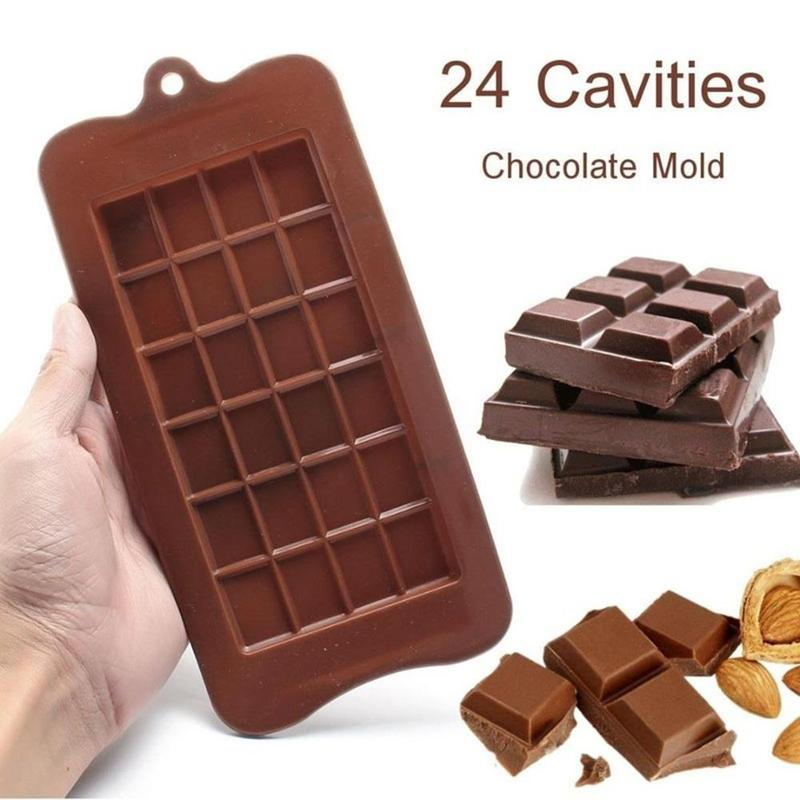1Pc DIY Chocolate Molds Food Grade 24 Cavity Bakeware Cake Molds High Quality Square Eco-friendly Silicone Silicone Mold