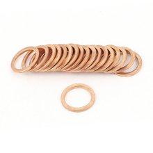 20 шт. Медь Crush Шайба плоское кольцо прокладка установки 4 типа
