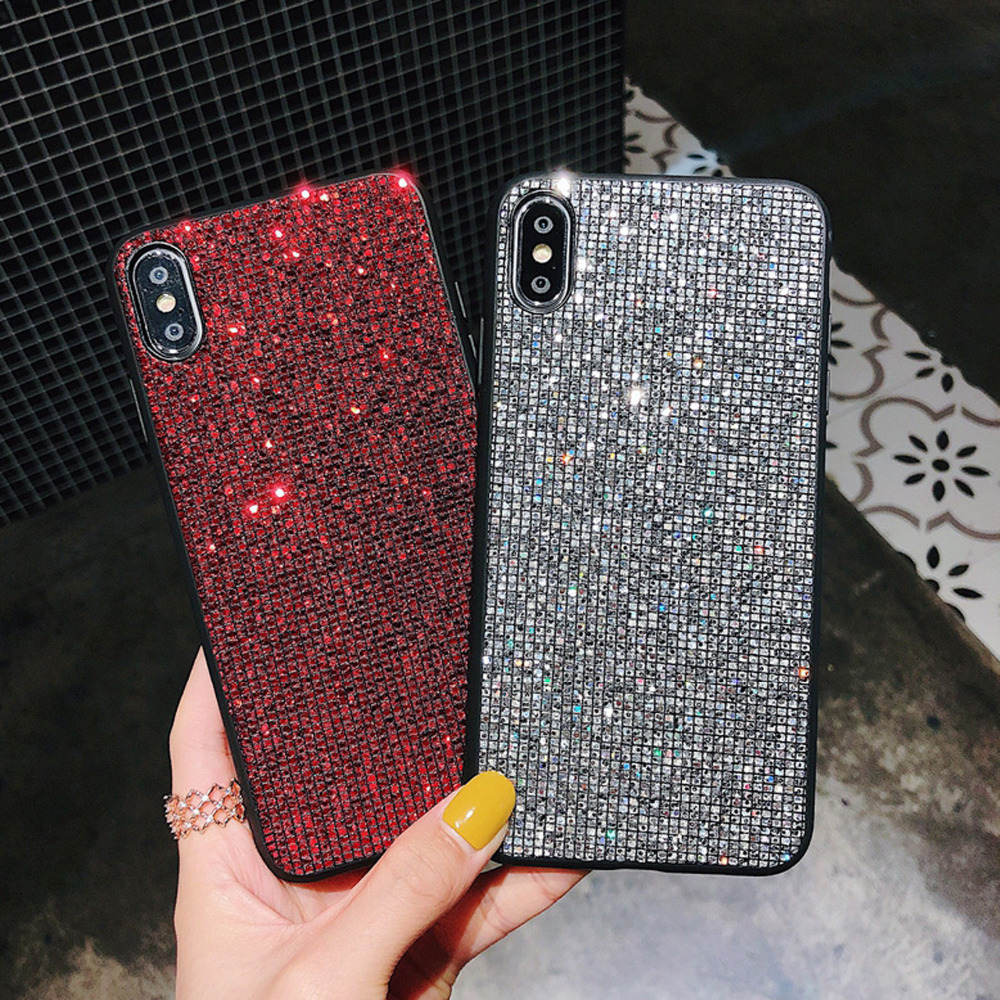 fashion sparkle glitter phone case for iphone xr xs max