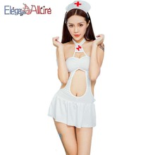 Sexy Lingerie Hot Erotic Nurse Costume Women Underwear Porno Outfit Cosplay Dress Baby Doll Maid Sleepwear Role Play Black