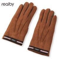 Realby Warm Winter Mittens Knitted Gloves Men Warmer New Autumn Fashion Wrist Soft B5136