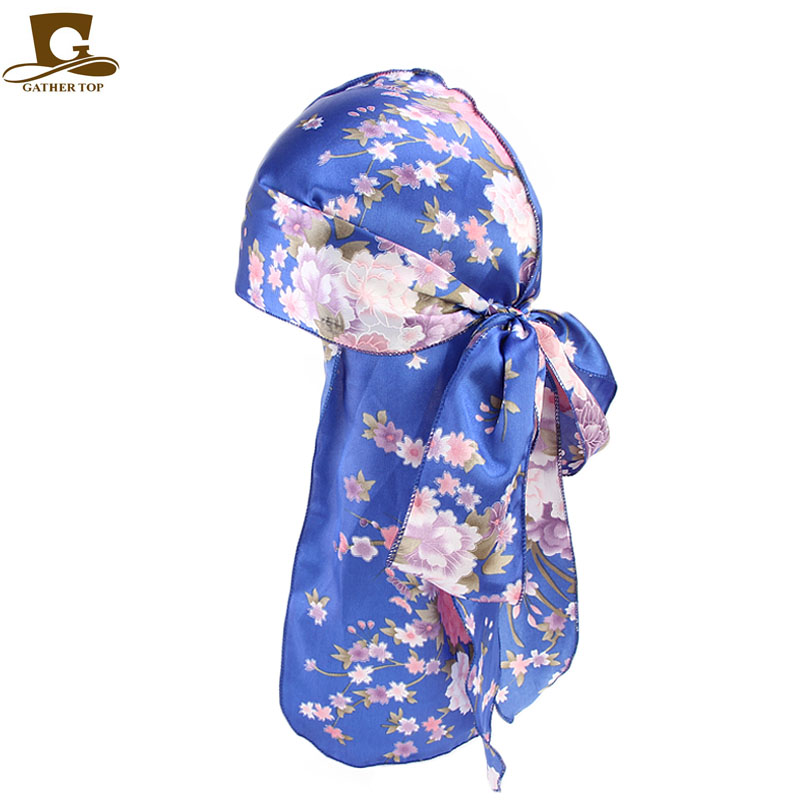 Fashion Men's Silky Satin Durags Bandana   Headwear   Men Durag Wigs Turban Hat Doo Durag Biker Headband Pirate Hat Hair Accessories