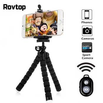 Mini elastyczna gąbka statyw octopus dla iPhone Xiaomi smartfon huawei statyw dla Gopro akcesoria do kamery z uchwyt na telefon tanie i dobre opinie Rovtop Punkt i Strzelać Kamery Działania Kamery 360 ° Kamera Wideo Smartfony Elastyczny statyw Sponge Metal 150mm Rovtop Tripod