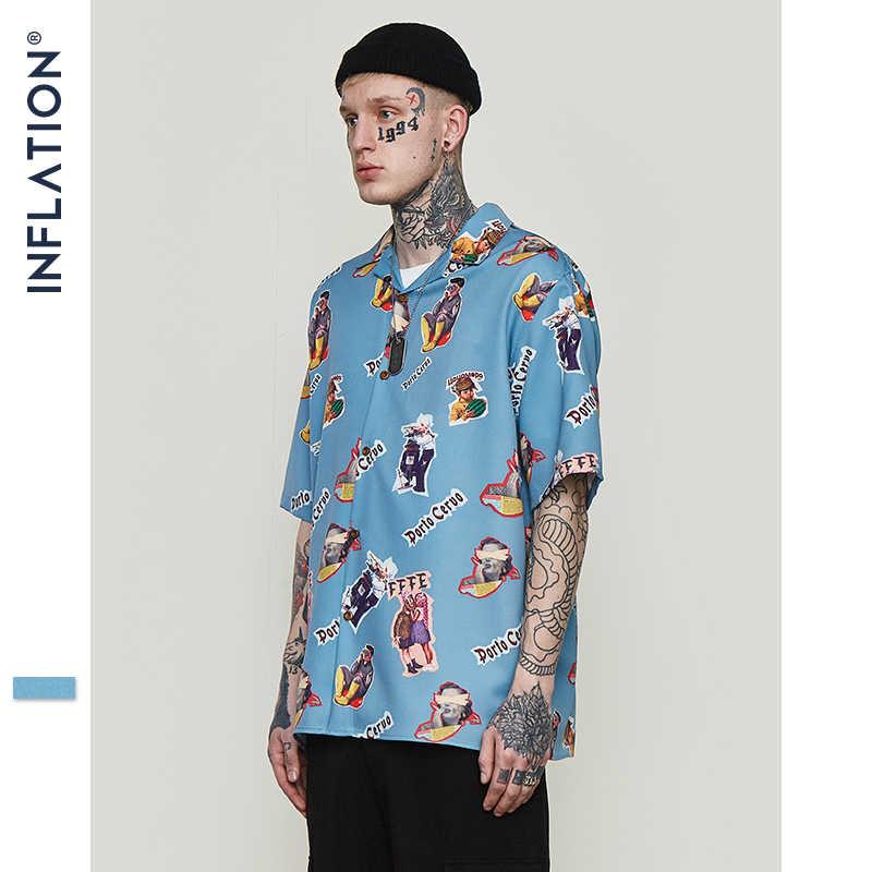 Camisa hawaiana de inflado para hombre, camisa de playa con estampado divertido, Casual, para hombre, de manga corta, de verano, 2019, ropa para hombre, 9220 S