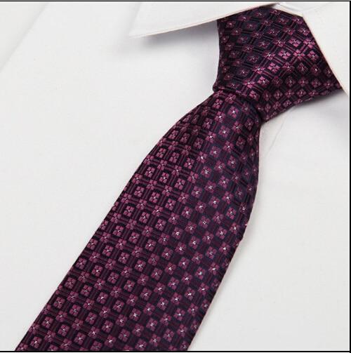 Jacquard Woven Corbatas Hombre 2016 Mens Silk Neckties Dark Purple Tie Silver Dot Neck Tie 8cm Gravata Slim Jacquard Lote
