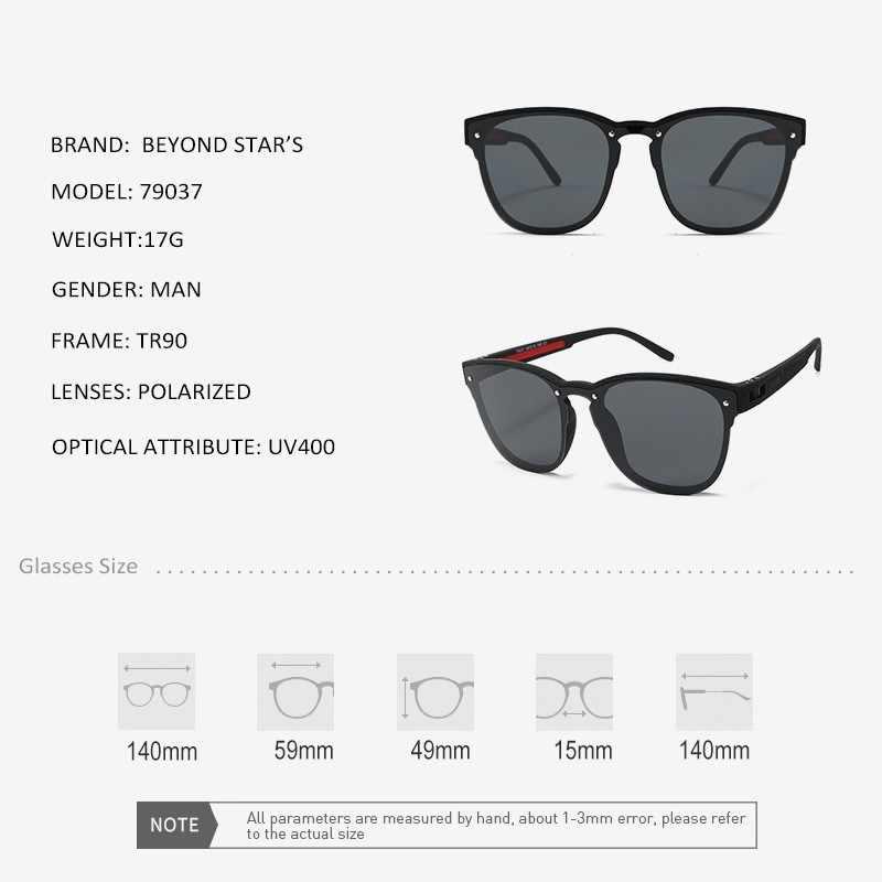 BEYONDSTAR One-piece bleu miroir lentille lunettes de soleil hommes polarisé Cateye lunettes de soleil femmes mode luxe lunettes UV400 Glases TR79037