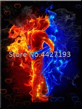 fire love couple diamond painting christmas 5d diamant accessoires diy full resin rhinestone embroidery Mosaic