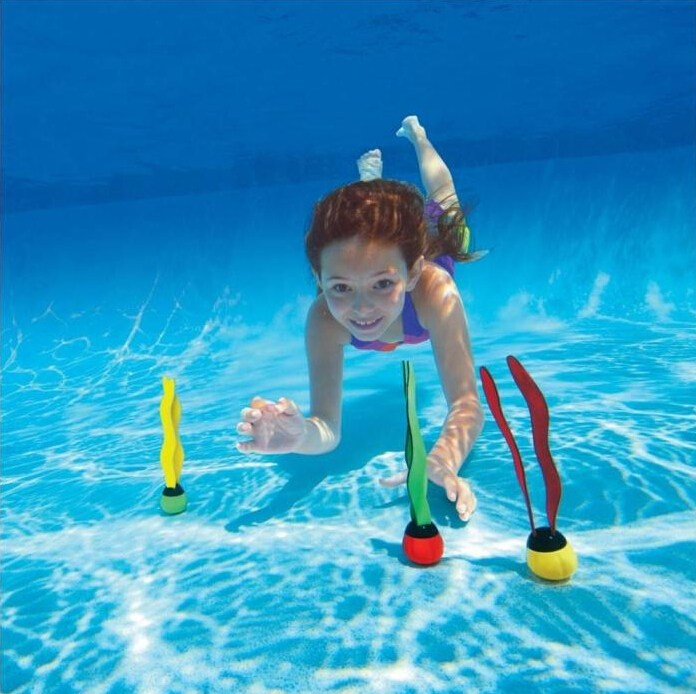 3Pcs/Lot Children Water Toys Sctivity Scuba Diving Seaweed Seagrass Swimming Pool Accessories