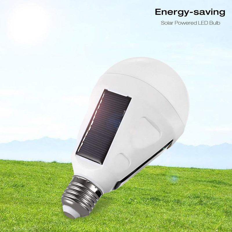 AIMIHUO Portable E27 LED Bulb 7W 12W LED Solar Lamp AC85V-265V White light Rechargeable emergency light bulb outdoor Solar lamp