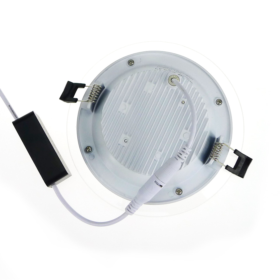 Aliexpress.com : Buy Dimmable LED Panel Light Round Glass Panel ...