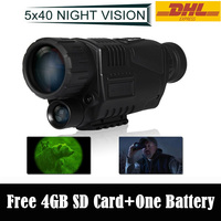 DHL Free Shipping 4GB WG 37 Tactical Digital IR Infrared Night Vision Monocular Scope 200m 5X40