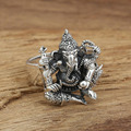 2016 new arrival Thai Silver Ring Personalized elephant god real men 925 sterling silver 925 jewelry for men wedding rings GY65