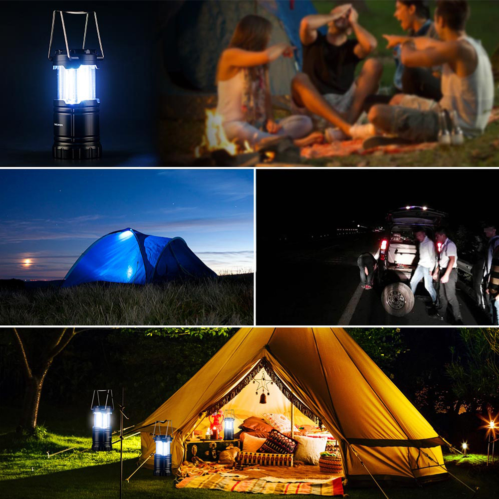 Купить с кэшбэком CHIZAO Camping Light Outdoor Emergency Lamp Multi Function Portable Working Flashlight Tent Light Lantern For Fishing Hiking