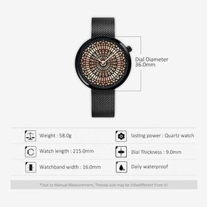 Image 5 - Shengke高級ブランド腕時計女性のファッションドレスクォーツウォッチレディーメッシュストラップ防水時計レロジオfeminino