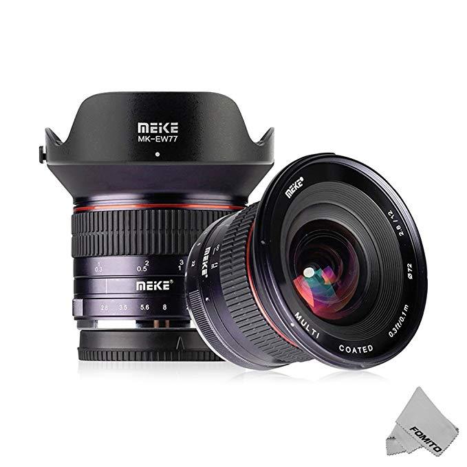 Objectif Fomito Meike 12mm F/2.8 Ultra grand Angle manuel Foucs Prime pour Sony Alpha/Nex E monture APS-C appareil photo sans miroir