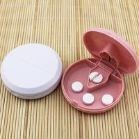 New Medical Pill Half Quarter Splitter Storage Compartment Box Tablet Cutter Holder