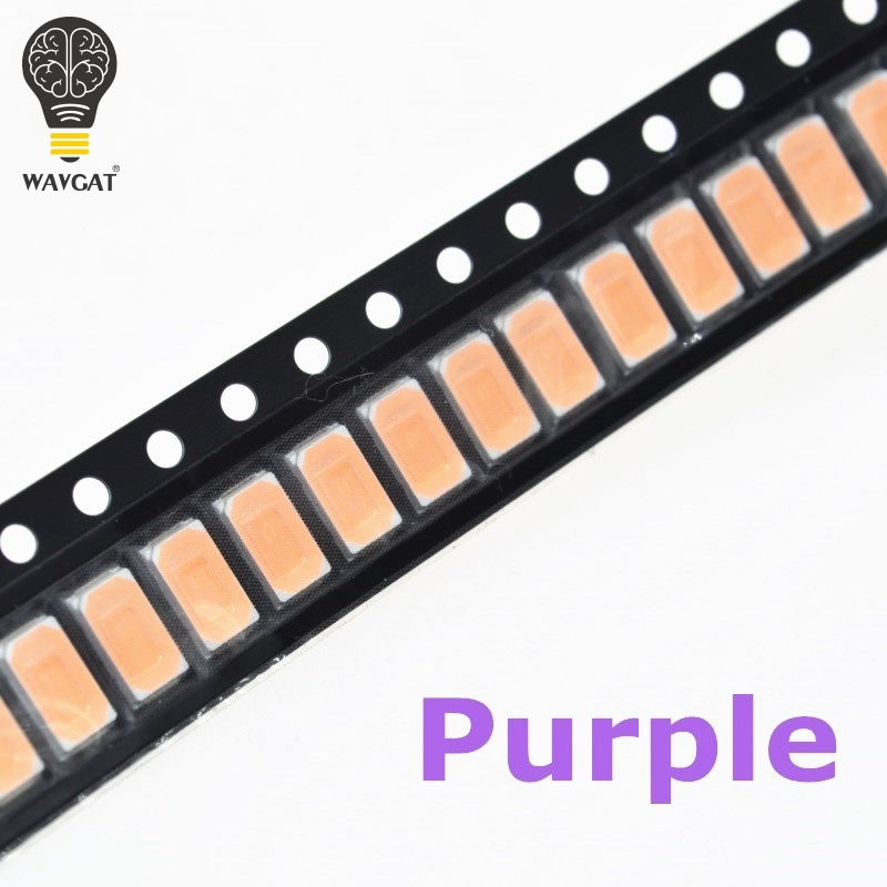 Learned Wavgat Smd Chip 5630 5730 Smd Smt Uv Purple Light Chip Lamps 395-400nm Super Bright Light Emitting Diode Led Bulb 100pcs Pleasant To The Palate Active Components