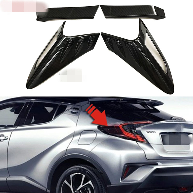 Car Sticker Styling For Toyota C Hr Chr Accessories 2016 2017 2018 Carbon Fiber Taillight Cover