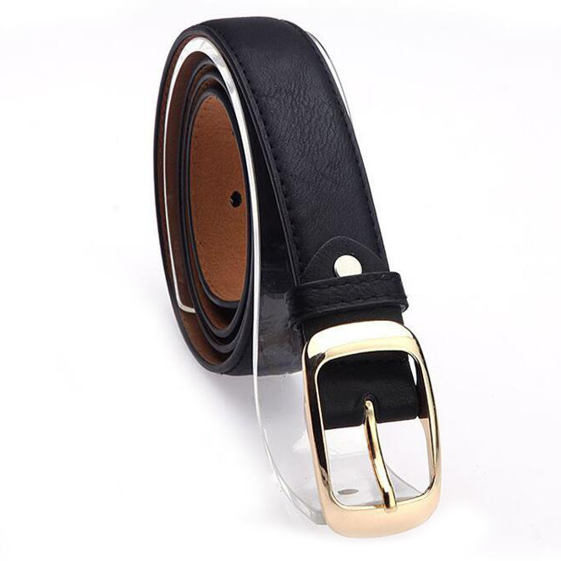 Fashion 2017 Women Belt Brand Designer Hot Ladies Faux Imitation Leather Metal Buckle Straps Girls Fashion Accessories 7 Colors in Women 39 s Belts from Apparel Accessories